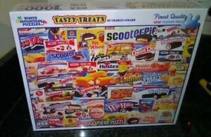 White Mountain 1000 Pieces Jigsaw Tasty Treats By Charlie Girard New Sealed