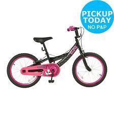 Eclipse 18 Inch Steel Frame Bike - BMX Style Tyres - Girls - Pink/Black