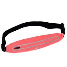 Nike Lean Waistpack Expandable Running Belt Fluorescent Pink X Silver