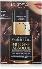 L'Oreal Paris Superior Preference Mousse Absolue, #425 Dark Mahogany Brown NEW