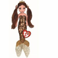 Ty 02104 Ginger Brown Sequin Mermaid 25cm