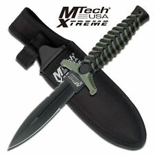 MTech Xtreme Double Edge Fixed Blade Knife With Sheath. MX-8089GN