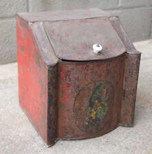 Antique 19th Century Tin Toleware Storage Container