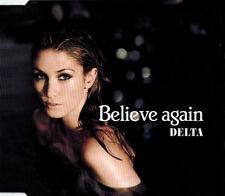 "DELTA GOODREM ""Believe Again"" Rare 2007 5Trk CD *Enhanced *Remixes *TheVoice"