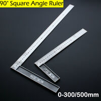 Stainless Steel L-Square Angle Ruler Woodworking Measuring Tool 0-300/500mm