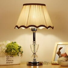 Fabric Lampshade Bedside Night Light Table Lamp Bedroom Living Room Decoration