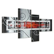 abstrakte Kunst M5 - Leinwandbild 4 teilig 120x70cm Handgemalt