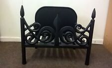 Handmade Forged mild steel Fire Basket Fireplace Grate Accessory Andiron