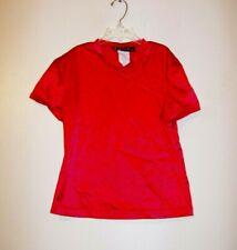Girls Red Jazz Dance Short Sleeve Top Size Medium GUC!!!