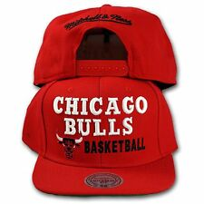 Original Mitchell & Ness Chicago Bulls Snapback Cap BLOCKER NBA rot