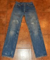 VTG 80s LEVI'S 501 XX Button Fly Denim Jeans USA Mens Size 31x36 Actual (28x31)