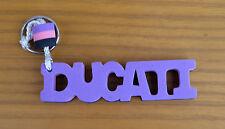 Ducati Word Foam Letter Purple/Pink/Black Key Fob Ring Clearance
