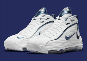 Nike Air Total Max Uptempo Shoes White Midnight Navy CZ2198-100 Men Size 11