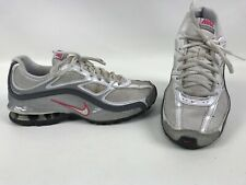 Nike Reax Run 5 Womens Running Shoes Size 7.5 White/Silver/Pink 407987-116