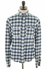 HOLLISTER Mens Flannel Shirt Large Multi Check Cotton