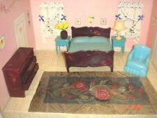 New Listing6 Piece Grouping 1950's Jaydon Blue Bedroom Furniture W/Lamp & Dresser
