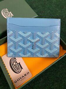 Goyard Saint Sulpice Card Holder Wallet Light Blue