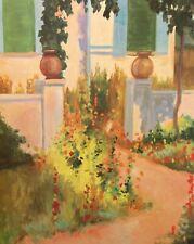 "Robert White ""Cottage Garden"" Hand Signed Offset Lithograph Art Print 1994, OBO!"