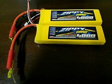 2x New Zippy Compact 4000mAh 2S 7.4V 25C 35C Lipo Battery REDCAT TURNIGY TRAXXAS
