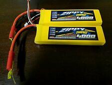 2x New Zippy Compact 4000mAh 2S 7.4V 25C 35C Lipo Battery REDCAT TURNIGY TRAXXAS