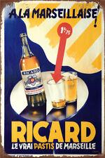 Metal Tin Sign ricard pastis poster  Bar Pub Home Vintage Retro