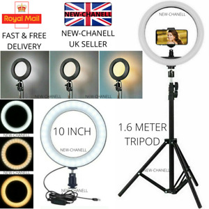 26cm LED Ring Light with 1.6M Stand for Youtube Tiktok Makeup Video Phone Selfie