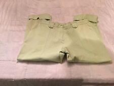 Capri Pants Players Sport Large Lime Green Cuffs CUTE Capris
