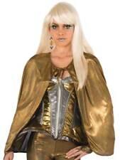 Vestido de Lujo oro brillante Fantasía Disfraz Bata Nuevo de Cape Superhéroe Adulto Halloween