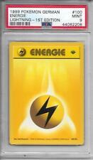 LIGHTNING ENERGIE DEUTSCH GERMAN 1st Edition BASE SET PSA 9 MINT Pokemon  #100