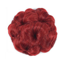Messy Curly Bun Hair Piece Hair Scrunchie Fake Natural Look Extensions Hairpiece