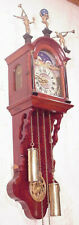 Dutch Frisian Tail Figural mahogany Friese Wall Clock 8 Day moonphases vintage