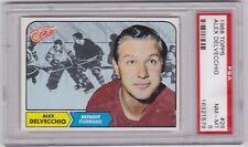 Alex Delvecchio 1968 Topps #28 Hockey Card Graded PSA 8 NM-MT