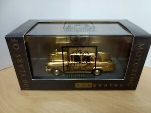 P220-LLEDO VANGUARDS 100TH ANNIVERSARY GOLD PLATED VAUXHALL VICTOR AND BOX