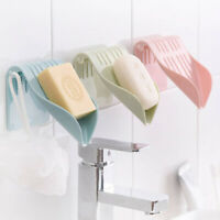 Wall Shower Home Bathroom Plate Dish Suction Cup Storage Box Soap Holder Drain