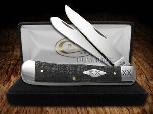 Case xx Trapper Knife Lizard Skin Gray Bone 1/500 Stainless Pocket Knives