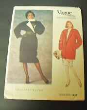 Vogue Geoffrey Beene Coat Sewing Pattern #1433 Misses Size 8
