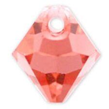 Swarovski Crystal TopDrillBicone Padparadscha  Color6mm. Approx24 PCS. 6328-6301