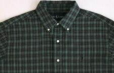 Men's RALPH LAUREN Green Blue Neat Plaid Shirt Small S NWT NEW Cool!