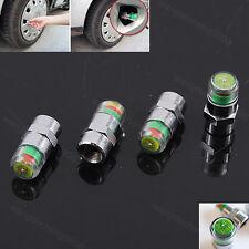 4PCS Car Auto Tire Pressure Monitor Valve Stem Caps Sensor Eye Alert Indicator