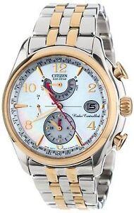 NEW Citizen Eco-Drive Women's FC0004-58D AT MOP Dial TwoTone Bracelet 39mm Watch