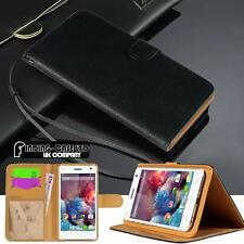 Black Magnetic Flip Cover Stand Wallet Leather Case For Various Wiko Smartphones