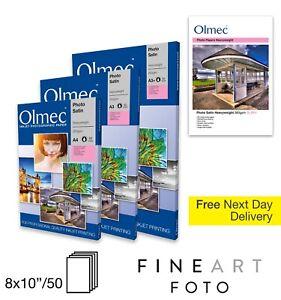 "Olmec 260gsm Photo Satin 10"" x 8"" Inkjet Paper 50 Sheets (OLM6110X8)"