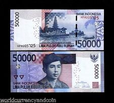INDONESIA 50000 RUPIAH 2005/2015 *REPLACEMENT* BOAT TEMPLE UNC 50,000 MONEY NOTE
