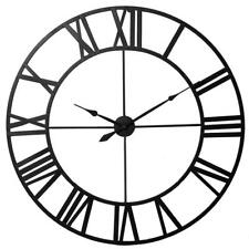vintage round wall clock in wall clocks ebay Old Williams Tools large roman numeral wall clock indoor outdoor retro vintage round open face mute