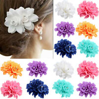 AU_ JW_ Rose Flower Bridal Hair Clip Hairpin Brooch Wedding Bridesmaid Party Acc