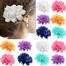 AU_ JW_ Rose Flower Bridal Hair Clip Hairpin Brooch Wedding Bridesmaid Party Acc