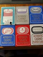 Las Vegas Casino Playing Cards Lot of 12 Decks Used in Casino