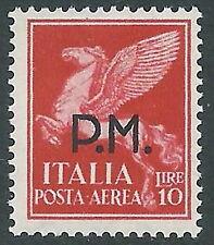 1942 REGNO POSTA AEREA POSTA MILITARE 10 LIRE MNH ** - CZ37-8