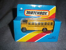 293B Vintage Matchbox 1/76 MB 47 Bus School Bus School District 2 USA 1:76