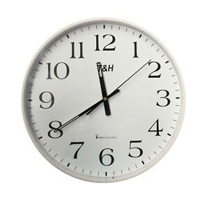 Wanduhr Funkuhr Uhr Uhrzeiger Funkwanduhr Funk Analog Funk Ø 34,5cm THRD7671W